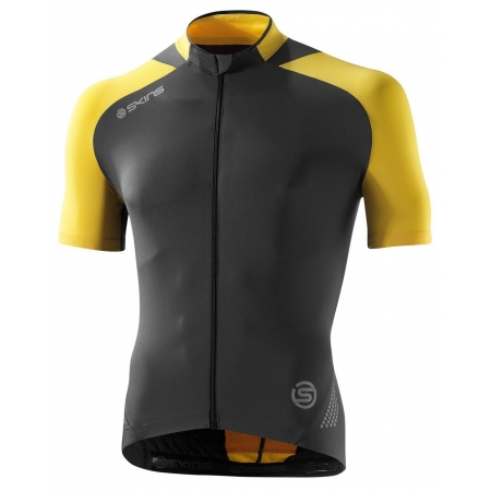Cycle C400 Mens Yellow Grey S S Jersey S